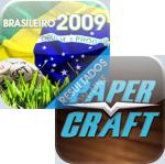 Ícones do Campeonato Brasileiro 2009 e do Papercraft