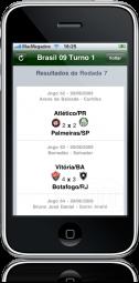Campeonato Brasileiro 2009 2.0 no iPhone