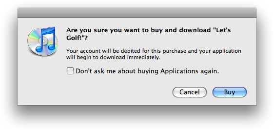 Compra na iPhone App Store