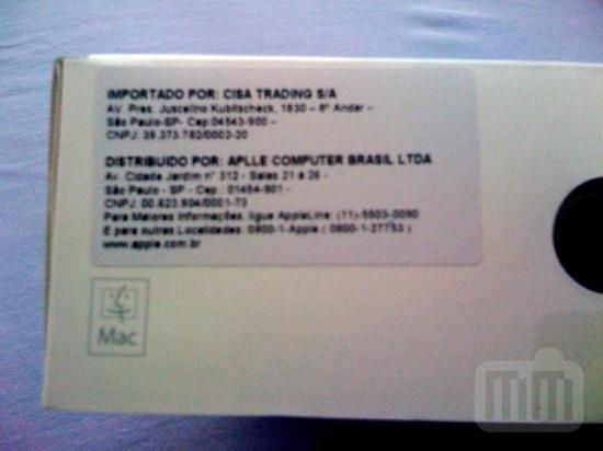 Etiqueta da Apple Brasil