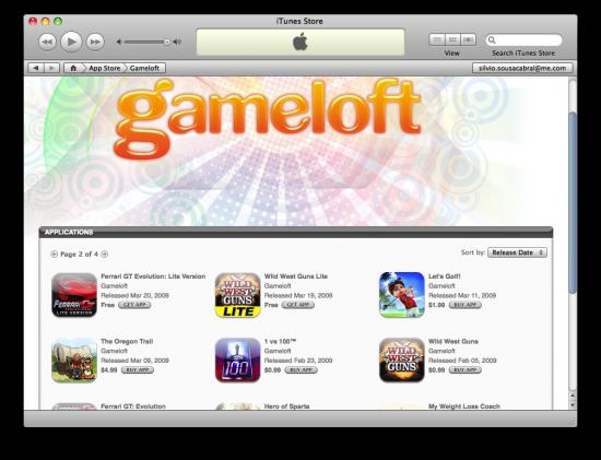 Gameloft na App Store