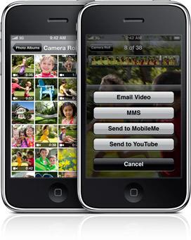 Gravação de vídeos no iPhone 3GS