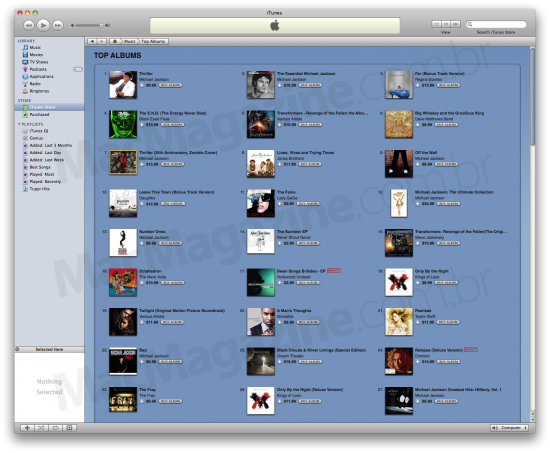 Michael Jackson na iTunes Store