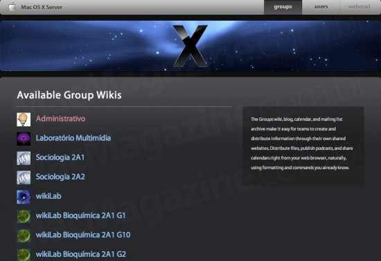 D'Incao usa Mac OS X Server