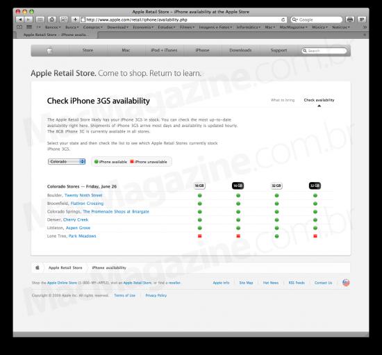 Apple - Disponibilidade do iPhone 3GS