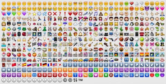 Tabela de caracteres Emoji