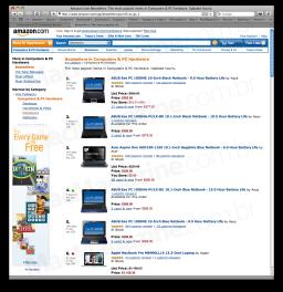 Amazon.com e MacBook Pro de 13