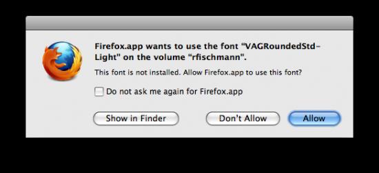 Fontes no Firefox