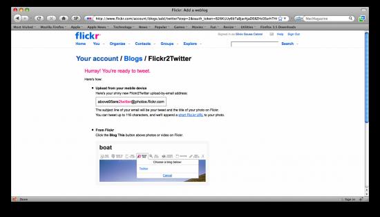 Flickr2Twitter
