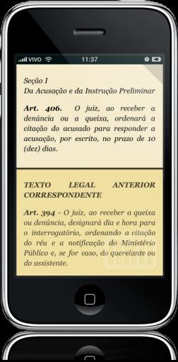 Lei do Júri Comentada no iPhone