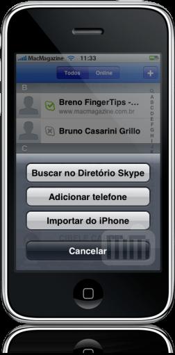 Skype 1.1 no iPhone