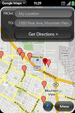 Direções no Maps