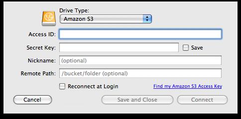 ExpanDrive também tem suporte ao Amazon S3