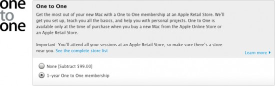 One to one na Apple online Store