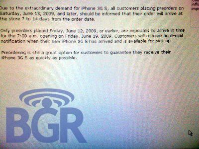 iPhone 3G S - esgotado