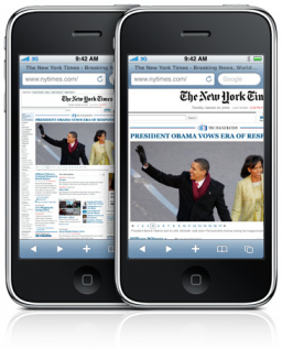 iPhone 3G S - Mobile Safari