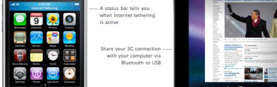 iPhone OS 3.0 - tethering Mac