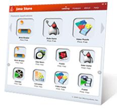 Loja virtual da Sun, a Java Store