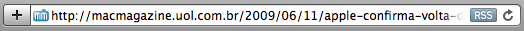 Safari 4 - barra de enderecos