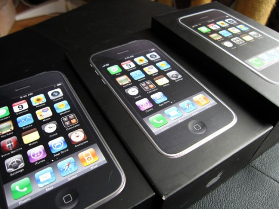 Caixas de iPhones 3GS