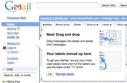 Labels no Gmail