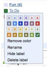 Labels no Gmail