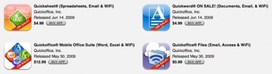 Apps da Quickoffice em promoção na App Store