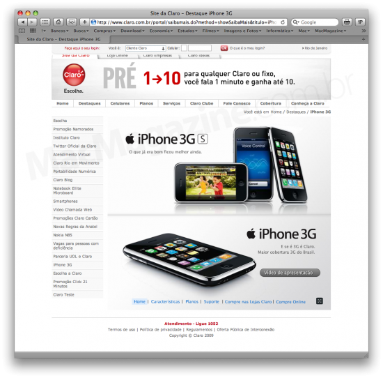 iPhone 3GS no iPhone