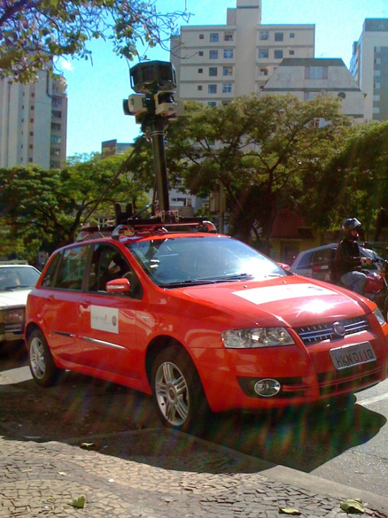 Fiat Stilo vermelho do Google Street View Brasil