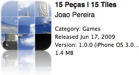 15 Peças na App Store