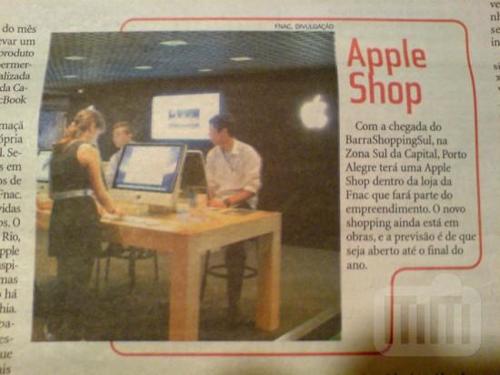Anúncio do Apple shop de PoA no ZH