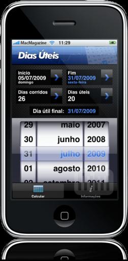 Dias Úteis no iPhone