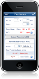 Peso Ideal no iPhone