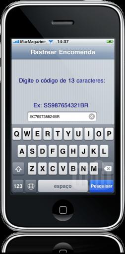 Entregas no iPhone
