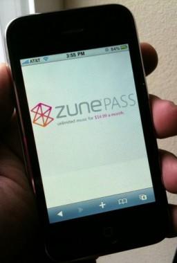 Zune Pass no iPhone