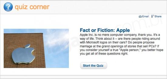 Quiz sobre Apple no Howstuffworks