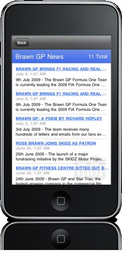 Brawn GP Racing no iPhone