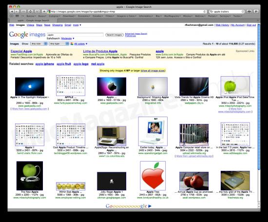 Novos filtros no Google Images