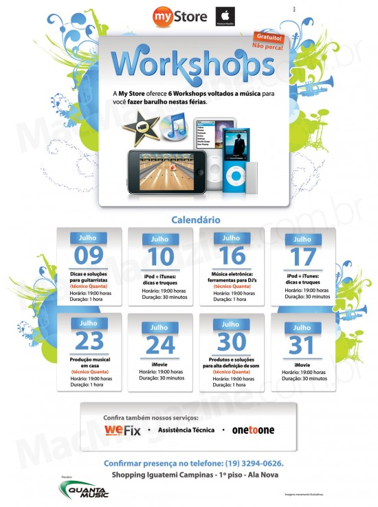 Workshops musicais da My Store
