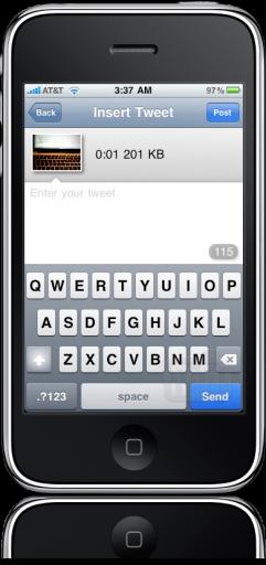 TwitVid no iPhone