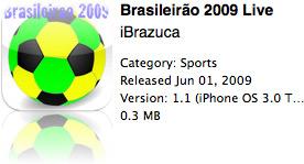 Brasileirão 2009 Live na App Store
