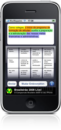iEmbromation no iPhone