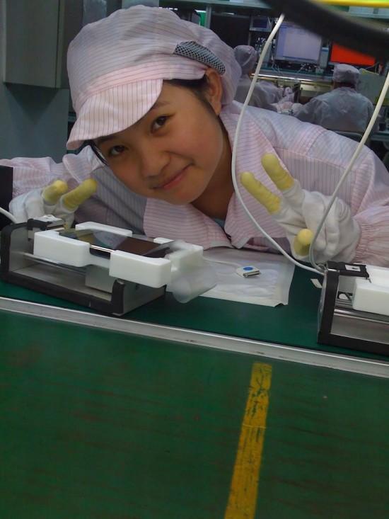 Garota em fábrica de iPhones na China