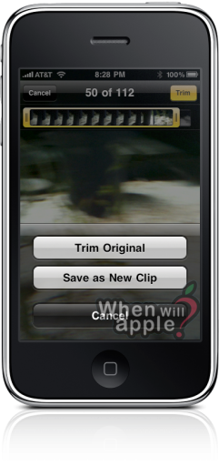 Trim no iPhone OS 3.1 beta 2