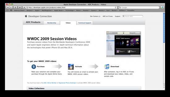 Vídeos da WWDC '09 à venda