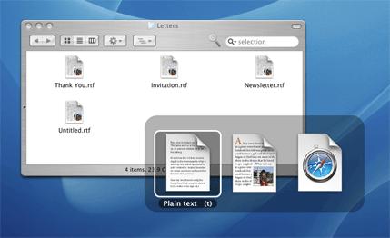 Document Palette no Mac OS X
