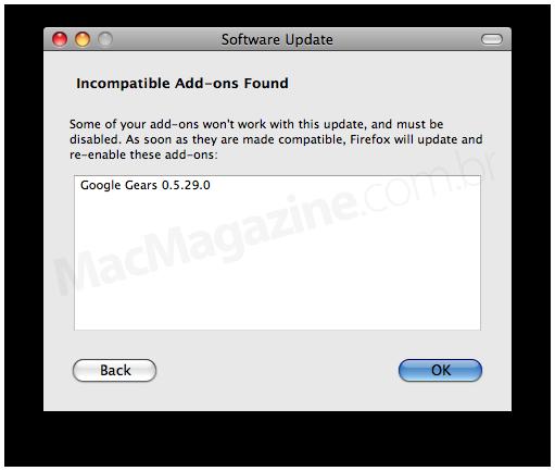 Gears incompatível com o Firefox 3.5.1