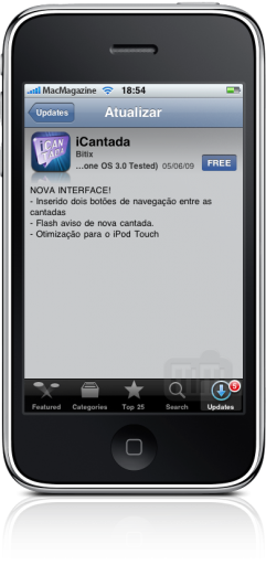 iCantada 1.1 no iPhone
