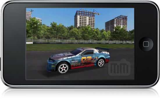 Real Racing no iPhone OS 3