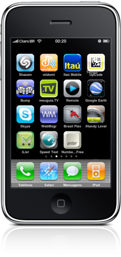 iPhone FAIL ícones espremidos